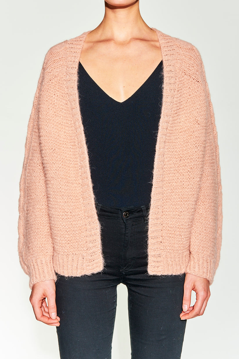 Celia Cardigan Dusty Pink