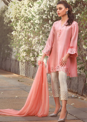 CHIFFON PLAIN DUPATTA (2 SIDE SILK FINISHING)