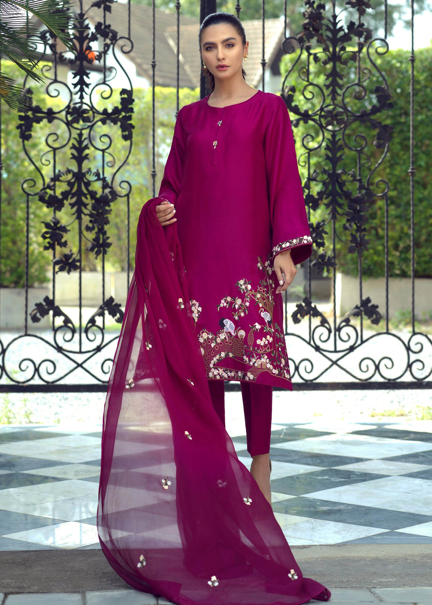 CHIFFON EMBROIDERED DUPATTA V