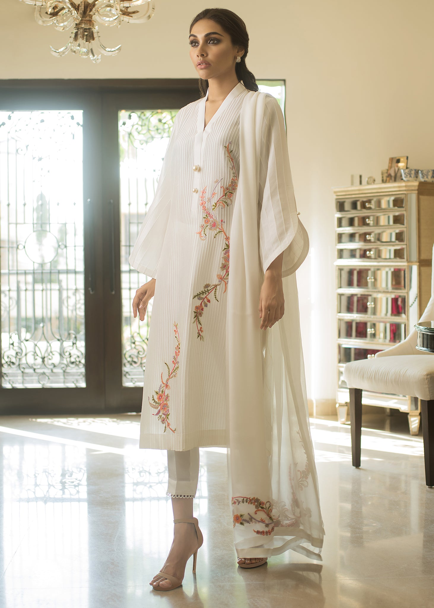 CHIFFON EMBROIDERED DUPATTA I