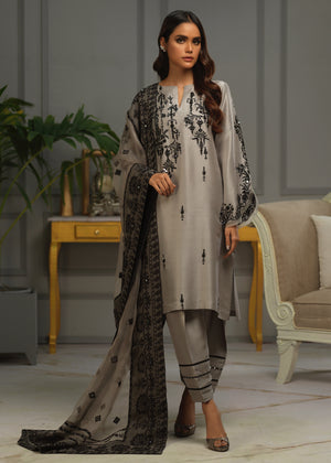 RAW SILK EMBROIDERED SHALWAR