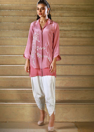 RAW SILK EMBROIDERED PATYALA PANTS