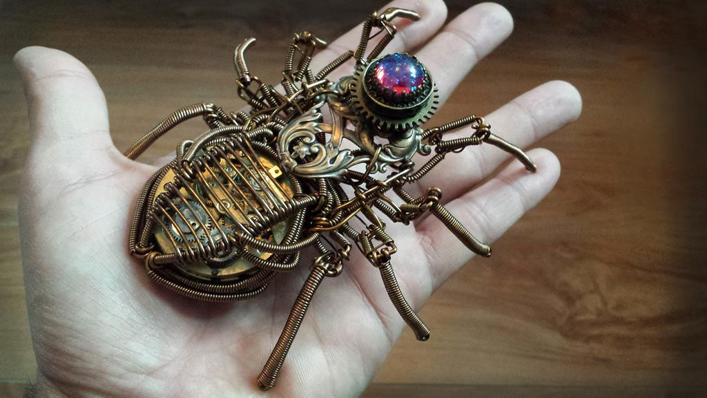 Steampunk Spider by Daniel Proulx