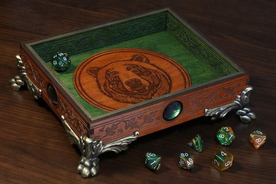 Bear dice tray - The Wizard's Vault