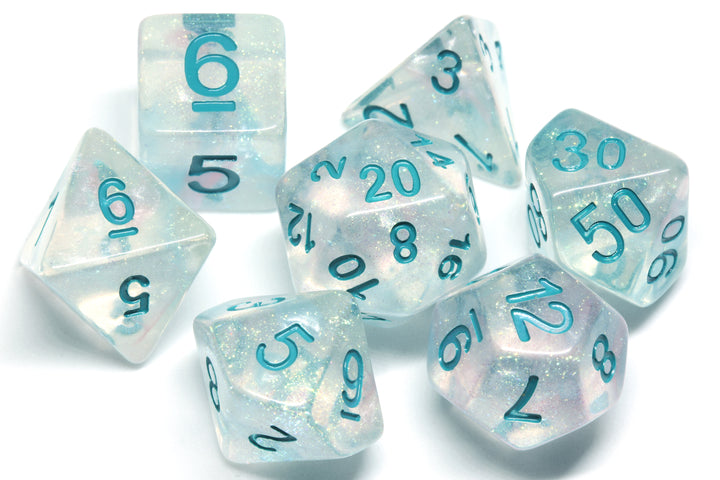 Iridescent Dice Set Light Blue - The Wizard's Vault