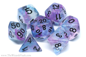 Ethereal Mist - Iridescent Dice Set Purple Blue - The Wizard's Vault