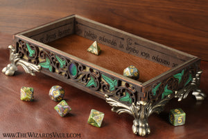 Elvish dice tray - Large - The Wizard's Vault
