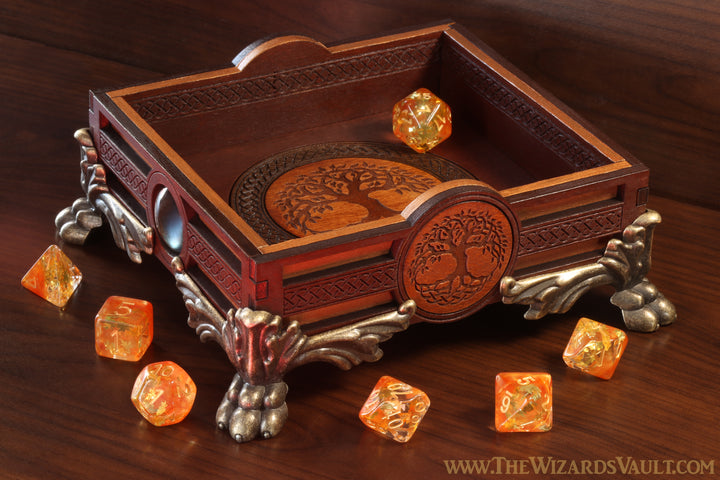 Autumnal Tree of life dice tray - The Wizard's Vault