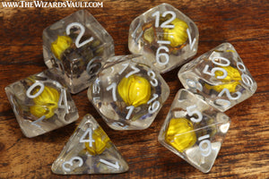 Yellow Flower Lavender dice set - The Wizard's Vault