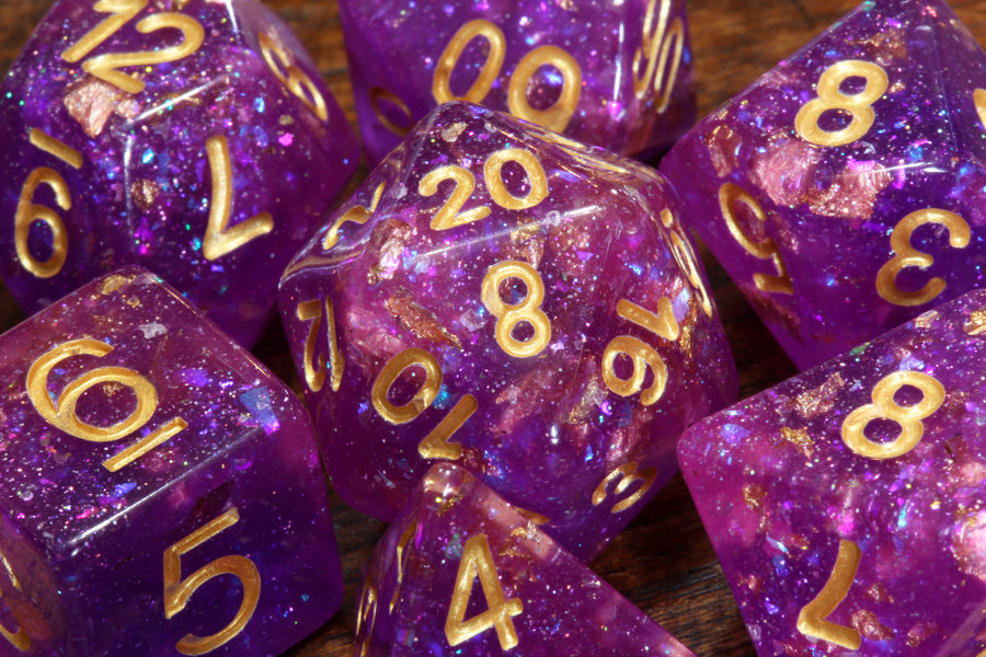 Galactic Orchid Dice Set - The Wizard's Vault