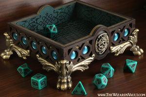 Green dragon dice tray - The Wizard's Vault