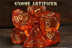 Gnome Artificer - Dice with gears - The Wizard's Vault