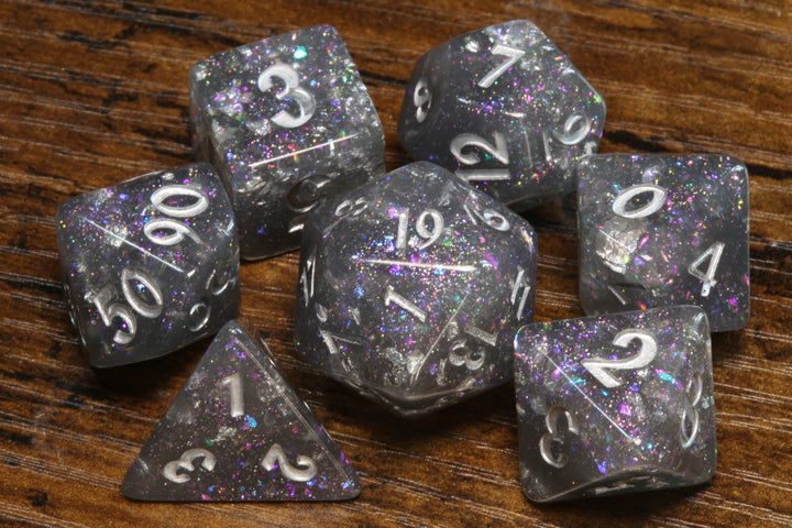 Galactic Storm - Grey Holographic Dice Set