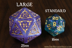 Hilltop Stronghold - 25mm Large Dice Set - The Wizard's Vault