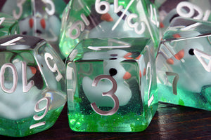 Green Pond Duckling Dice Set - The Wizard's Vault