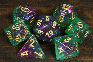 Galactic Fluorite Dice Set - Limited Edition - The Wizard's Vault