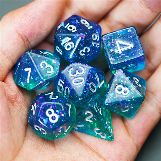 Galactic Tropical Sea Dice Set - The Wizard's Vault