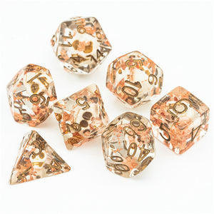 Gravedigger's Dice Set - Skull and Copper Flakes - The Wizard's Vault