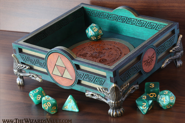 Triforce Zelda dice tray - The Wizard's Vault