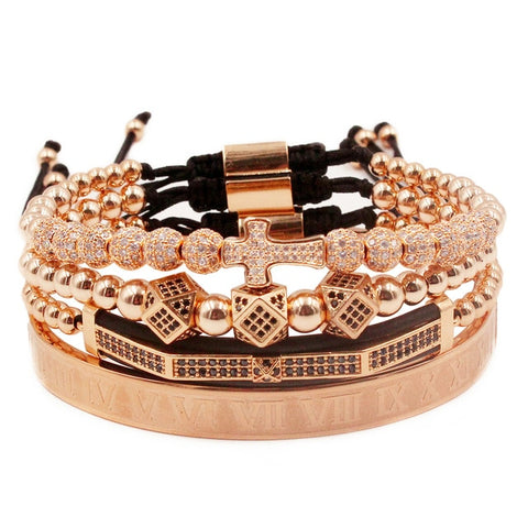 Cross Bracelet 4pcs/set crown