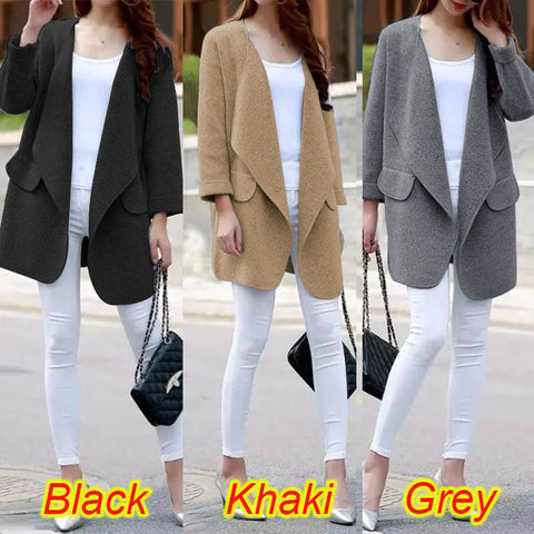 Long Sleeve Loose Open front Coat