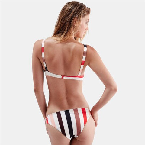 2 Piece Stripe Triangle Bikini Set