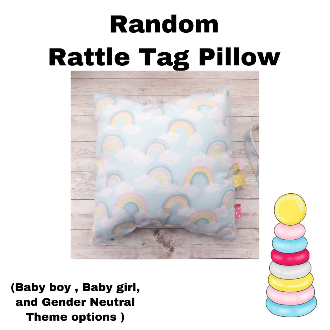 Random Rattle Tag Pillow