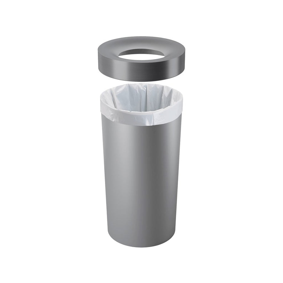 Recycling Bin - Silver Grey