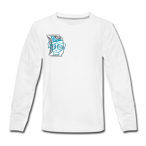 Kid's Babbles Long Sleeve Tee - white