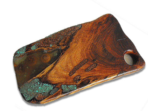 Mesquite Cutting Board With Copper Inlay