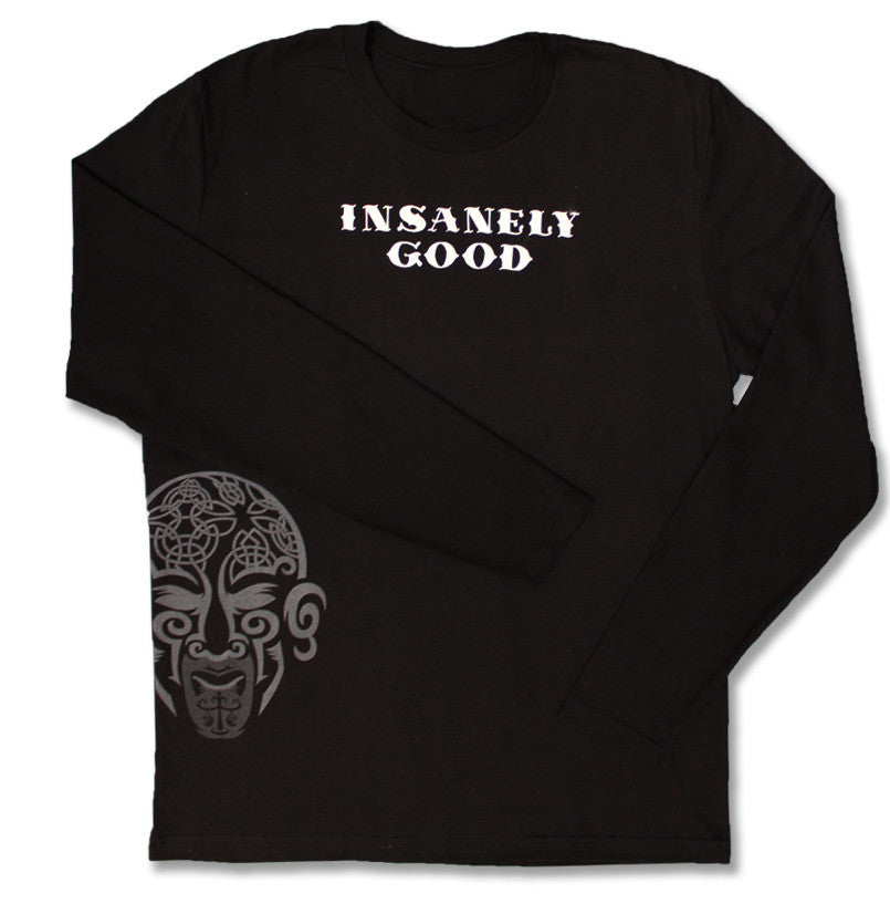 Insanely Good Mens Long Sleeve T - Black
