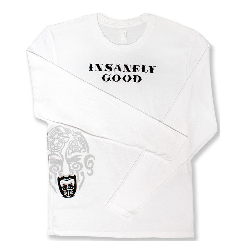 Insanely Good Mens Long Sleeve T - White
