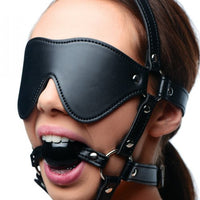 Strict Blindfold Harness with Ball Gag from XR Brands