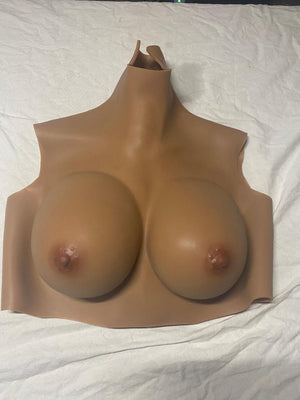 D Cup (tan) Silicone Filled Reg Price $199 (Stock #20)
