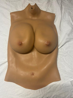 E Cup (tan) Silicone Filled Full Breast Plate Reg Price $299 (Stock #22)