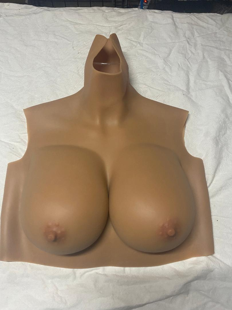 D Cup (tan) Silicone Filled Reg Price $199 (Stock #23) (read description)
