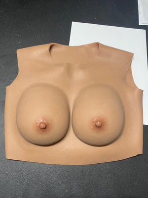 B Cup (tan) Low Neck Silicone Filled Reg Price $179.99 (Stock #14)