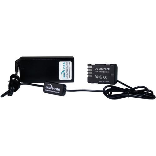 12V A/C Power Supply with Panasonic DMW-BLF19 Type Dummy Batttery (8')