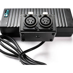 12V Power Supply with Dual 4-Pin Female XLR Outputs (8',10A)