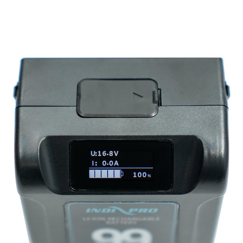2x Micro Alpha Series 99Wh V-Mount Li-Ion Batteries (Black Color) and Dual V-Mount Battery Charger Kit