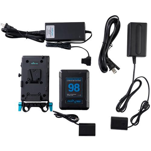 98Wh V-Mount Battery and Complete Power Kit for Sony A7R III & A7 III