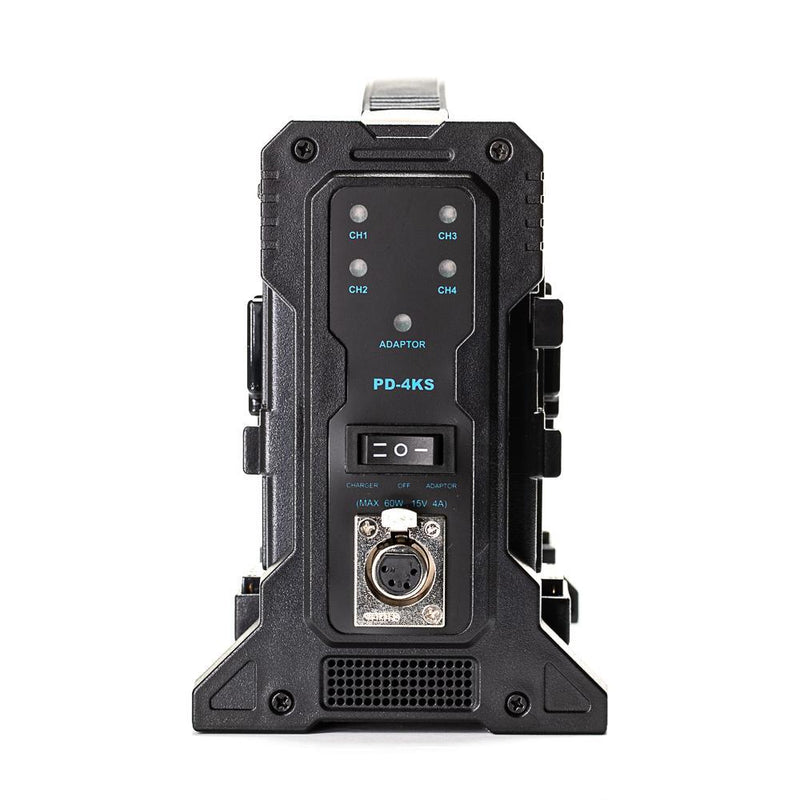 **B-STOCK** Quad V-Mount Battery Charger with XLR Output