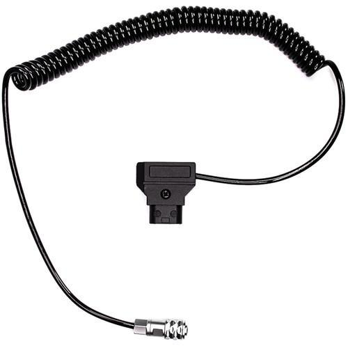 "Coiled D-Tap to 2-Pin Cable for Blackmagic Pocket Cinema Camera 4K (18-40"")"