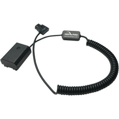 Coiled D-Tap to Sony NP-FZ100 Type Dummy Battery (24-36