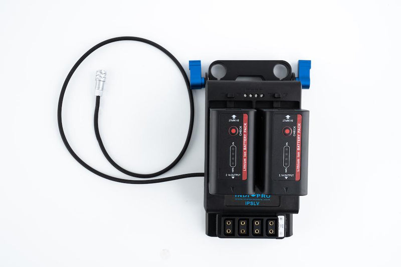 Dual NP-F Power System w/ 15mm Rod Mount for BMPCC 4K/6K (w/ 4x D-Tap Outputs)