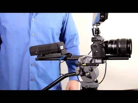 "V-Mount Battery Adapter Plate with LEMO Type Cable for Canon C300 Mark II w/ 15mm Rod System (24"")"