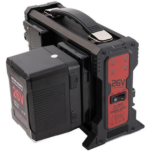 Quad 26V Gold Mount Lithium-Ion Battery Charger