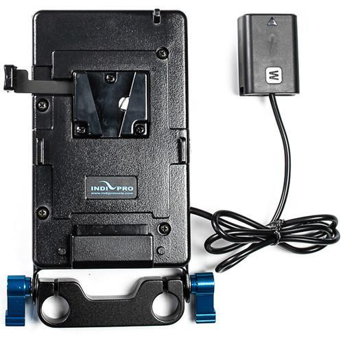"V-Mount Battery Adapter Plate with Sony NP-FW50 Type Dummy Battery w/ 15mm Rod System (24"")"