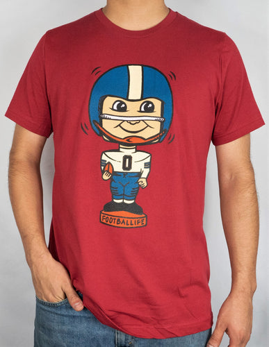 Football Bobblehead Graphic T Shirt Tee