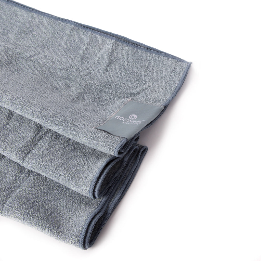 [the sister] <br> yoga towel <br> slate